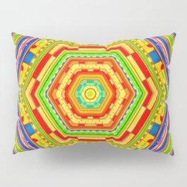 Stained Glass Kaleidoscope Pillow Sham