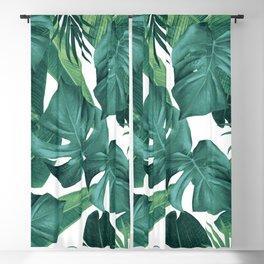 Tropical Summer Jungle Leaves Dream #2 #tropical #decor #art #society6 Blackout Curtain