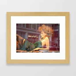 The Green Dress. Framed Art Print