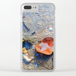 Leaves on the Sand Clear iPhone Case