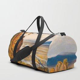 The Comuti Or Taquiare Rock Illustrations Of Guyana South America Natural Scenes Hand Drawn Duffle Bag