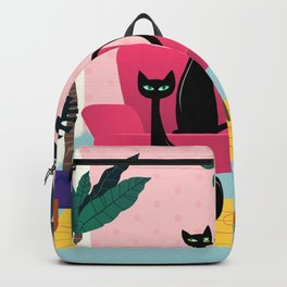 Sleek Black Cats Rule In This Urban Jungle Backpack