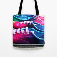 sneakers Tote Bags featuring sneakers by NatalieBoBatalie