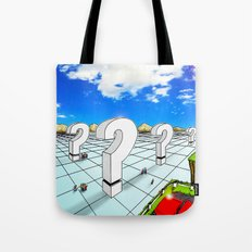In the Valley of the Big Questions Tote Bag