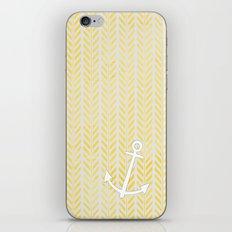 Anchor in Yellow iPhone & iPod Skin