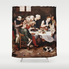 Hieronymus Bosch - The Bacchus Singers Shower Curtain