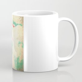 Textured Fall (Vintge Fall pink - orange leafs on textured clouds and blue sky) Coffee Mug