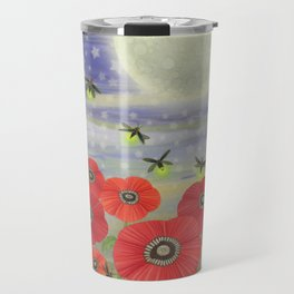 moonlit poppies, fireflies, and snails Travel Mug
