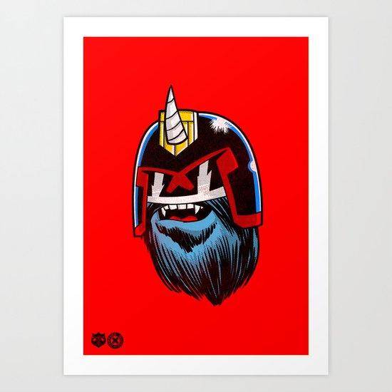 Yeticorn Comic Heroes series: Judge Dredd!  Art Print