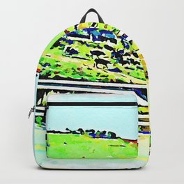 Calabrian countryside with cows Backpack
