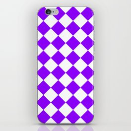 Large Diamonds - White and Violet iPhone Skin