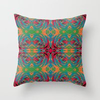 baroque Throw Pillows featuring baroque pop by Matthias Hennig