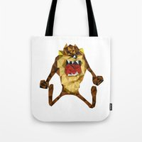 devil Tote Bags featuring Devil by mutto