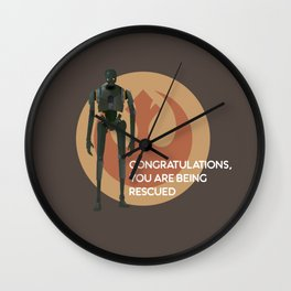 Congratulations, you are being rescued Wall Clock