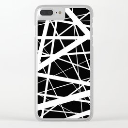 Entrapment - Black and white Abstract Clear iPhone Case