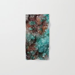 Dark Rust & Teal Quartz Hand & Bath Towel