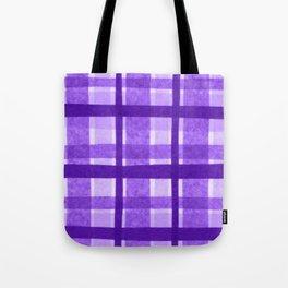 Tissue Paper Plaid - Purple Tote Bag
