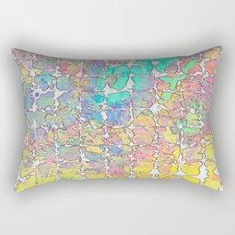 Pastel Abstract Blocks Rectangular Pillow