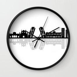 Madrid skyline Wall Clock