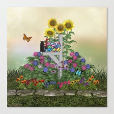 Seasons Mailbox Summer Canvas Print