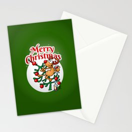 Reindeer in a Christmas tree Stationery Cards