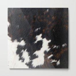 Cowhide Texture Metal Print