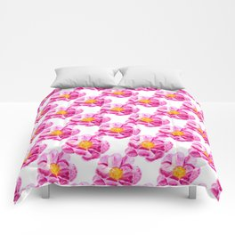 Seamless background with flowers Comforters