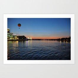 Downtown Disney Sunset I Art Print