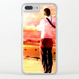 The Lost Horizons in Red Clear iPhone Case