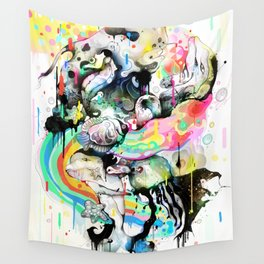 Ink Fight Colors Wall Tapestry