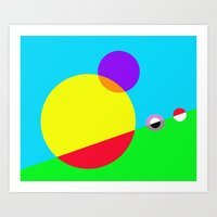 Circles #1 Abstract Modern Painting by Bruce Gray Art Print