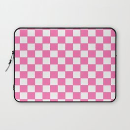 Checkers - Pink and White Laptop Sleeve