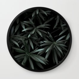 Leaves by Feifei Peng Wall Clock