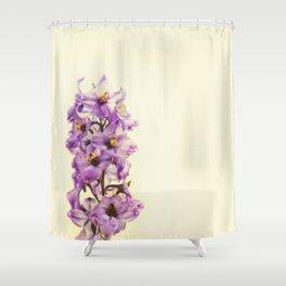 Purple Larkspur Delphinium Flowers Shower Curtain