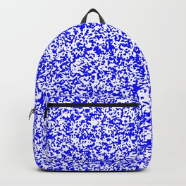 Tiny Spots - White and Blue Backpack