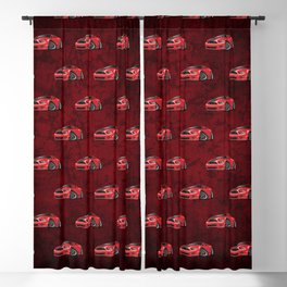 Modern American Muscle Car Cartoon Blackout Curtain