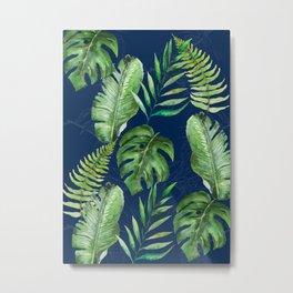Tropical Leaves Banana Palm Tree Metal Print