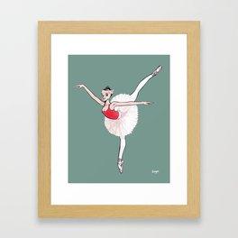 CoolNoodle practice ballet Framed Art Print