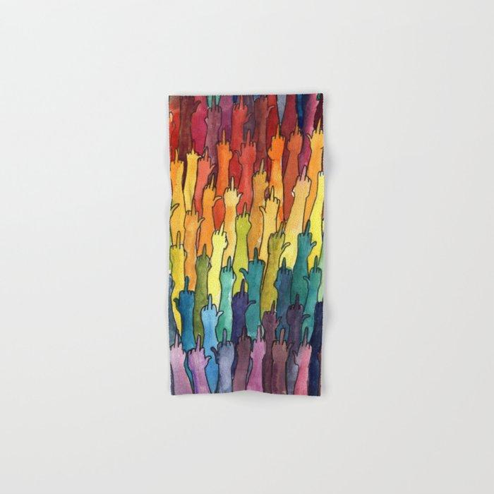 rainbow power Hand & Bath Towel