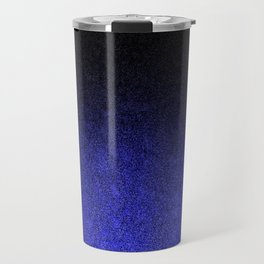 Blue & Black Glitter Gradient Travel Mug