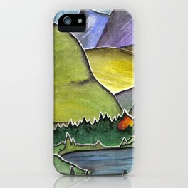 Forest Print. iPhone Case