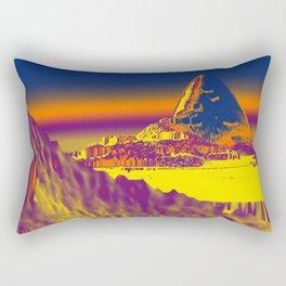 Mountain landscape colorful illustration painting Rectangular Pillow