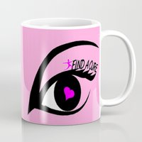 the cure Mugs featuring Find a Cure by Geni