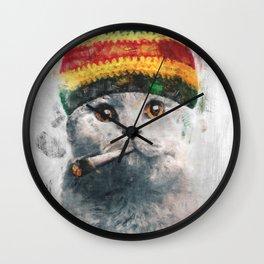 Rasta cat Wall Clock