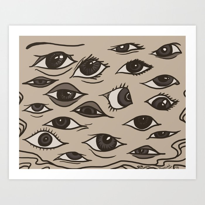 Bill Eyes Art Art Print