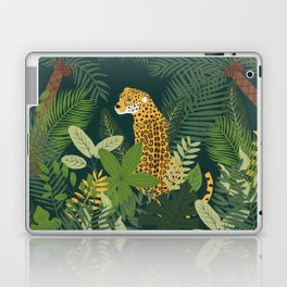 Jaguar in a Jungle on Green Laptop & iPad Skin