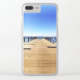 Road to the Sea Clear iPhone Case