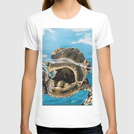 Sea Turtle By Noelle's Art Loft T-shirt