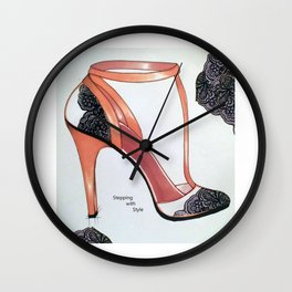 Stepping with Style Wall Clock