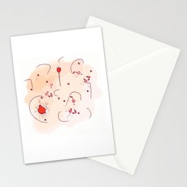 Abstract Terra Cotta Stationery Cards